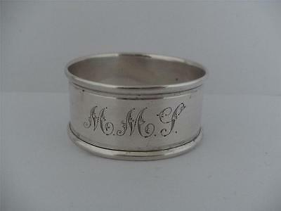 LOVELY SOLID SILVER NAPKIN RING Chester 1915