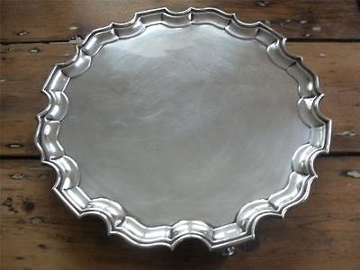 SUPERB LARGE STERLING SILVER SALVER TRAY Sheffield 1913 Heavy