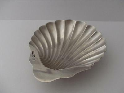 HALLMARKED SOLID SILVER OYSTER DISH Sheffield 1895 Shell design