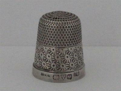 SOLID SILVER THIMBLE Chester 1926