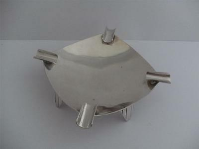 Solid Silver Ashtray London 1961