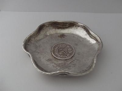 Beautiful Sterling Silver Peruvian Coin Dish 1894