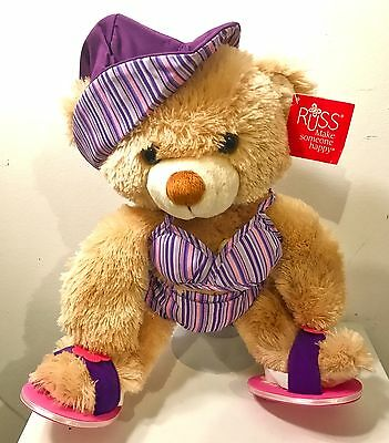 "15""-17"" Teddy Bear Purple Swim Suit Outfit Clothing"