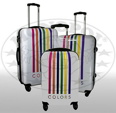 reisekoffer kofferset 2 teilig trolley hartschale polycarbonat 4 rollen neu eur 39 90. Black Bedroom Furniture Sets. Home Design Ideas