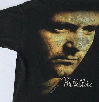 VTG Phil Collins Concert Tour T Shirt 1990 But Seriously World Tour Ladies MED