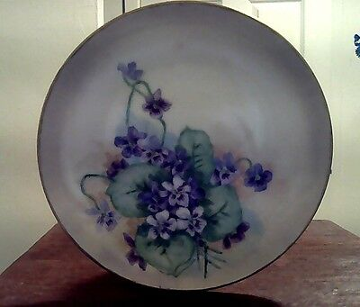 Classic VINTAGE Hand Painted Vintage Floral Porcelain Plate Signed By Artist