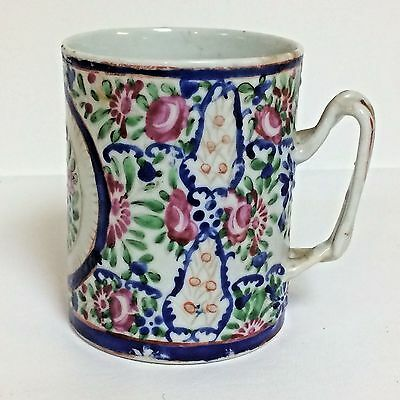 Antique 19th C Chinese Porcelain Twisted Handle Mug