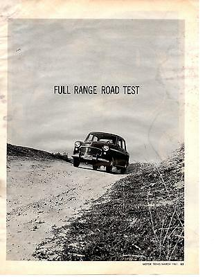 1961 Triumph 1100 & 1200  ~  Rare 5-Page Road Test / Article / Ad