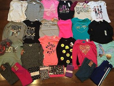 Girls Nwt Huge BTS School Fall Lot Clothes Outfits Justice 7/8