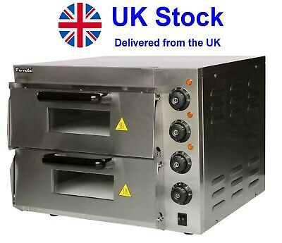 """NEW Commercial Pizza Oven Double Deck Electric Baking Fire Stone  2x16"""""""