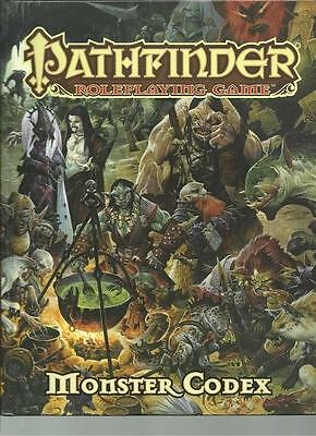 Pathfinder Pawns Role Playing Game Monster Codex Hc by Paizo PZO 1130