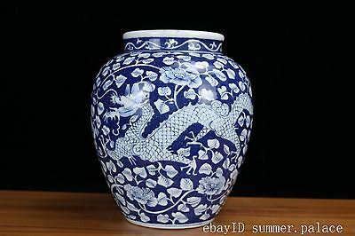 Chinese Beautiful Blue and white Porcelain Dragon Pot