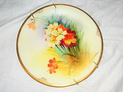 Antique Limoges France Flower Blossom Plate E Challinor Signed Hand Painted 8.5""