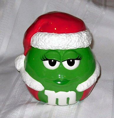 Collectable M & M Santa Cookie Jar With Green M & M by GALERIE Licenced