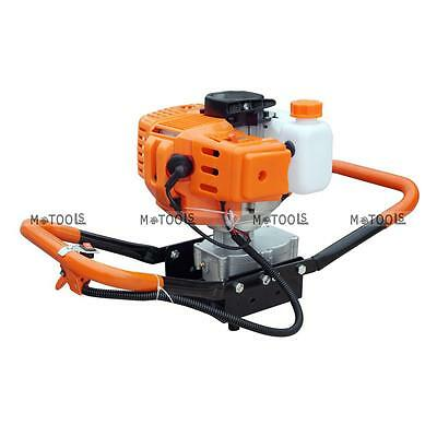 """2.2HP 52CC Gas Powered Post Hole Digger /4"""" or 8"""" Earth Auger Digging Bits AU"""