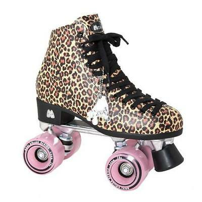 NEW Moxi Leopard Ivy Jungle  Roller Skates Size 9 27.6cm Quad FREE POST Retro