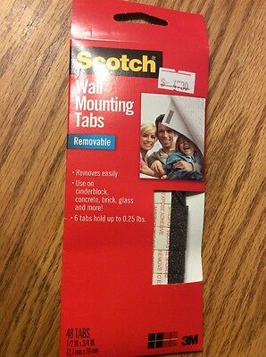 Scotch Removable Wall Mounting Tabs 48 Pack #7220