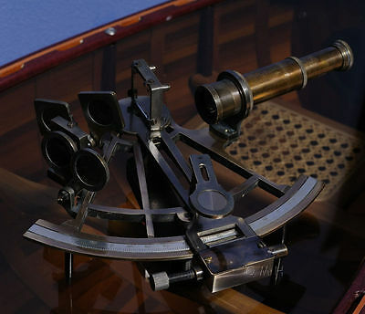 Nautical Sextant in Wood Box Maritime Instrument Nautical Gift New