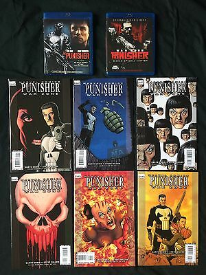 Marvel's The Punisher War Zone Comic Mini Series and Movies by Garth Ennis