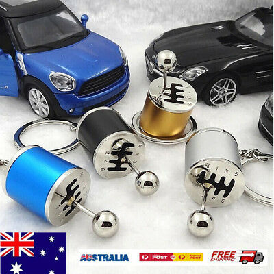 Keychain Ring Fob Creative Car 6Speed Gearbox Gear Shift Racing Tuning KH