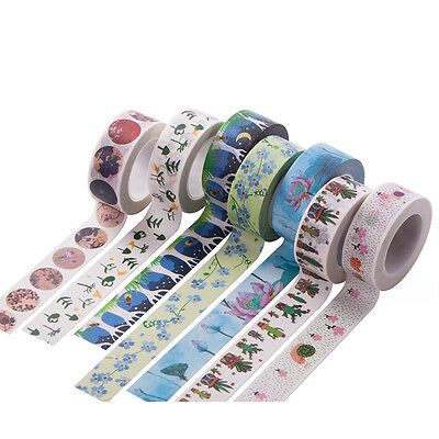 DIY Washi Tape Decorative Adhesive Masking Trim Roll Paper 15MM*10M + Gift Box