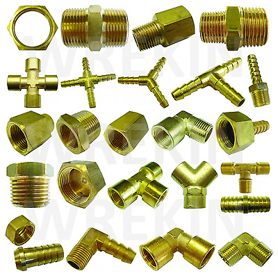 BSP TAPER THREAD x HOSE TAIL END CONNECTOR - BRASS FITTING FOR AIR, WATER & FUEL