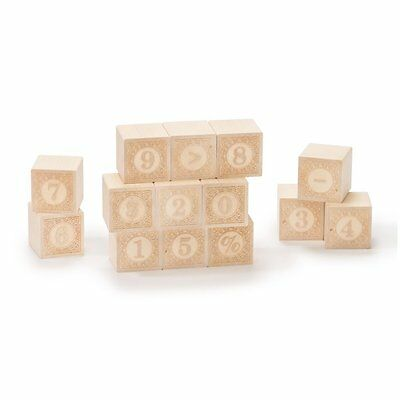 Uncle Goose Alphablanks Numbers Blocks - Made in USA