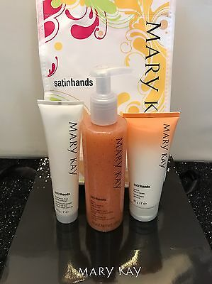 MARY KAY Peach Satin Hands® Pampering Set Gift Set SILKY SMOOTH HANDS! BRAND NEW