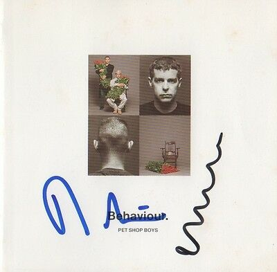 "Pet Shop Boys Autogramme signed CD Booklet ""Behaviour"""