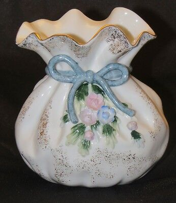 Lefton China Ruffled Vase