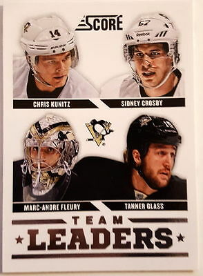 Panini Score Hockey 2013-14 NHL Karte #573 Team Leaders