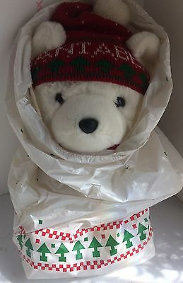 NEW FRESH SANTA BEAR with TAGS & BAG Dayton Hudson 1985 1st Year Dust Dirt Free