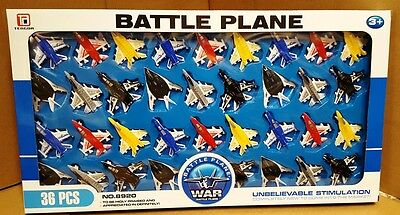 36 Pc   Fighter Jet Model  Battle War  Planes Kids Toy Play Set Gift Pack