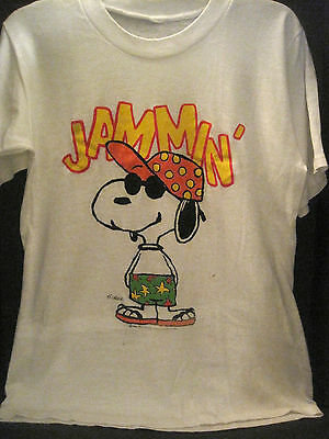VTG 70s~SNOOPY JAMMIN~JOE COOL 1971~PEANUTS~T-SHIRT OFFICIALLY LICENSED