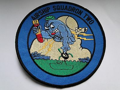 Aufnäher/Patch  der United States  Navy Air-Ship SQUADRON  Two  ca 12,5 cm