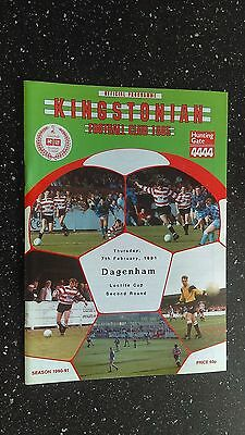 Kingstonian V Dagenham 1990-91