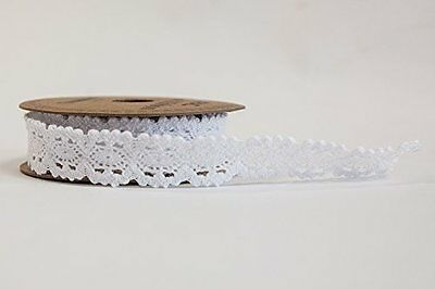 White Lace Ribbon18Mm X 3Yds Wrapping Crafts Wedding Stationary Decor Apac