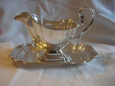 Vintage Chadwick International Silverplate Company  Gravy Boat W/ Underplate