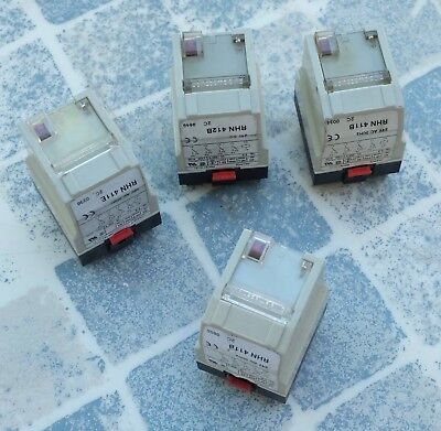 Schneider electric RHN411E et RHN412B Relais 48V 24V lot de 4 / set of 4 parts