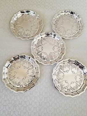 Set Of Five (5) Frank Smith Sterling Silver Butter Pat Nut Dishes No Mono