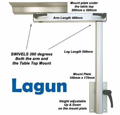 Lagun RV - 2 Section Swivel & Height Adjustable Table Pedestal Leg INC. DELIVERY