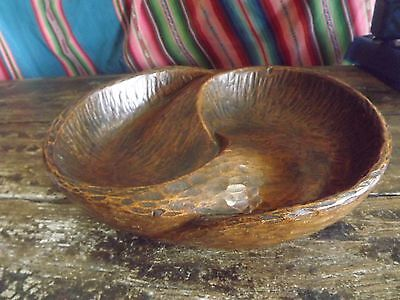 Superb Carved Wood Bowl Of Unknown Age Or Origin 11In Across Sculptural Form