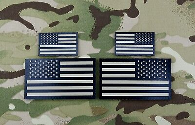 Infrared US Flag Standard & Mini Full Patch Set IR Army Navy Air Force Tan