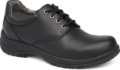 DANSKO Men's Men's Walker Lace-Up in Black Smooth Leather ( Walker #8704020200 )