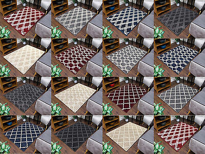 New Modern Trellis Small Extra Large Quality Thick Floor Carpet Rugs Mats Cheap