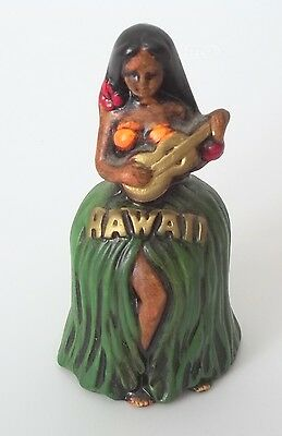 Vintage R B Hawaii Hula Girl Bell Japan
