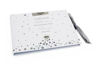Personalised Beautiful Baby Shower Birthday Christening Guest Book Gift CG1425-P