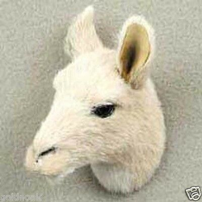 LLAMA HEAD-Fur ANIMAL Magnets.   SUPPORT OUR UNWANTED PETS PROGRAM!