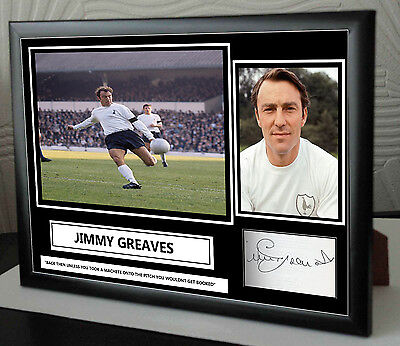 "Jimmy Greaves Spurs Framed Canvas Print Signed ""Great Gift or Souvenir"""