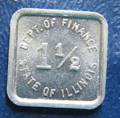 Department of Finance State of Illinois 1-1/2 Retailers Occupation Tax Token